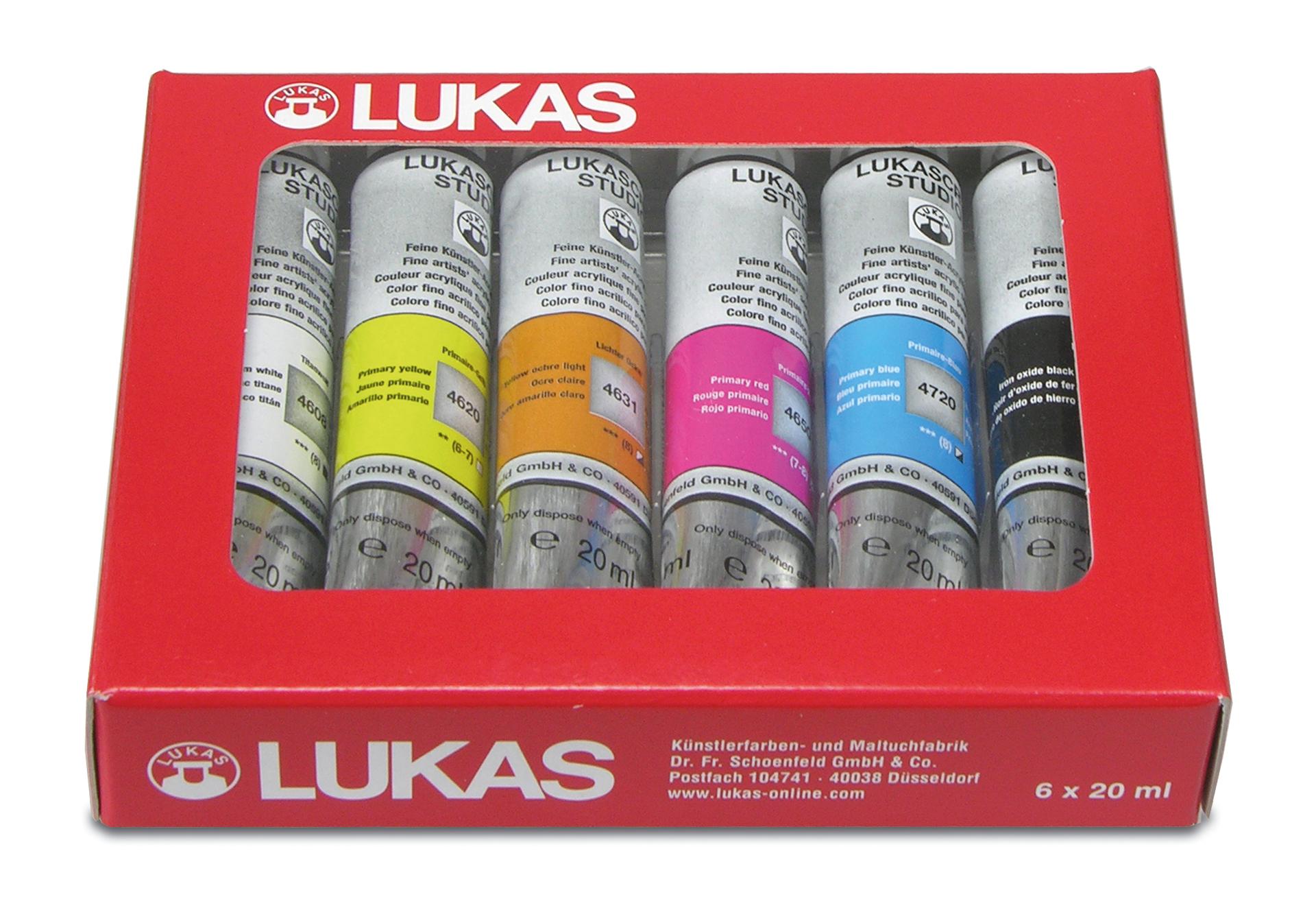 Lukas Cryl Studio - Acrylfarbensortiment 6x20ml