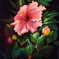 Malanleitung - Tropischer Rosa Hibiskus von Gary Jenkins