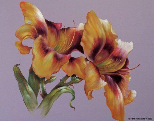 Malanleitung - Strahlende Taglilien von Kathwren Jenkins