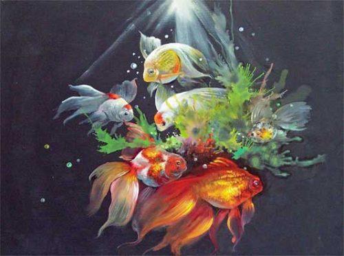 Malanleitung - Schimmernde Goldfische von Gary Jenkins