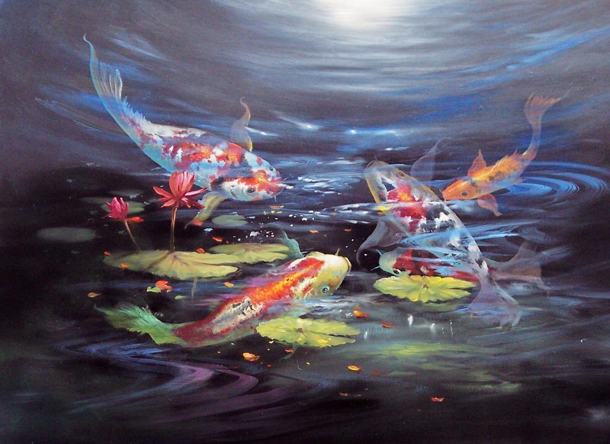Malanleitung - Koi Teich von Gary Jenkins