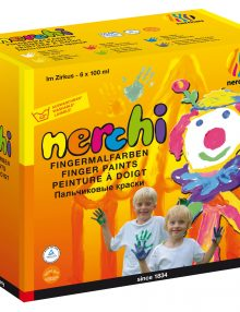 "nerchau nerchi Fingermalfarben 6er-Set ""Im Zirkus"""