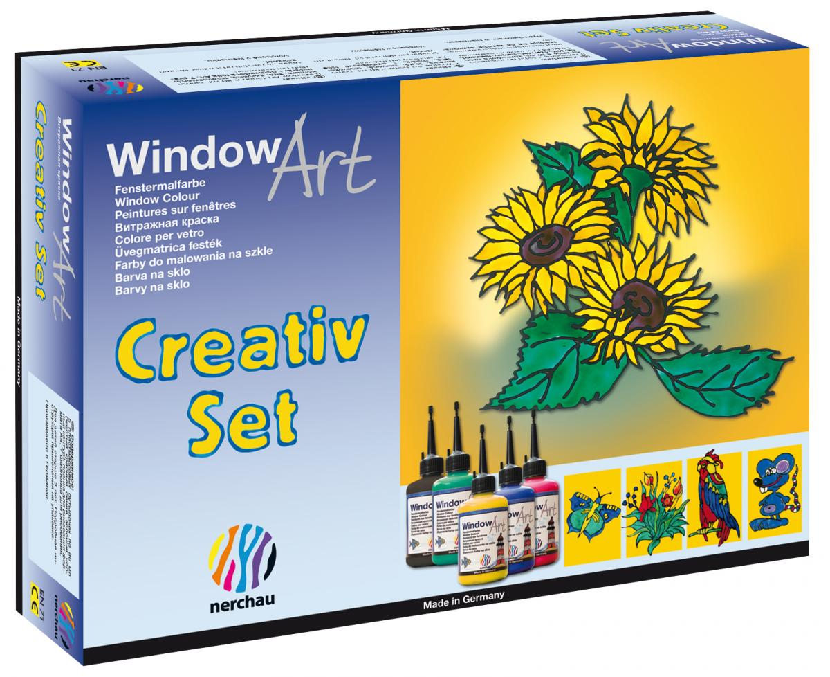"""nerchau fenstermalfarben window art """"creativ set"""""""