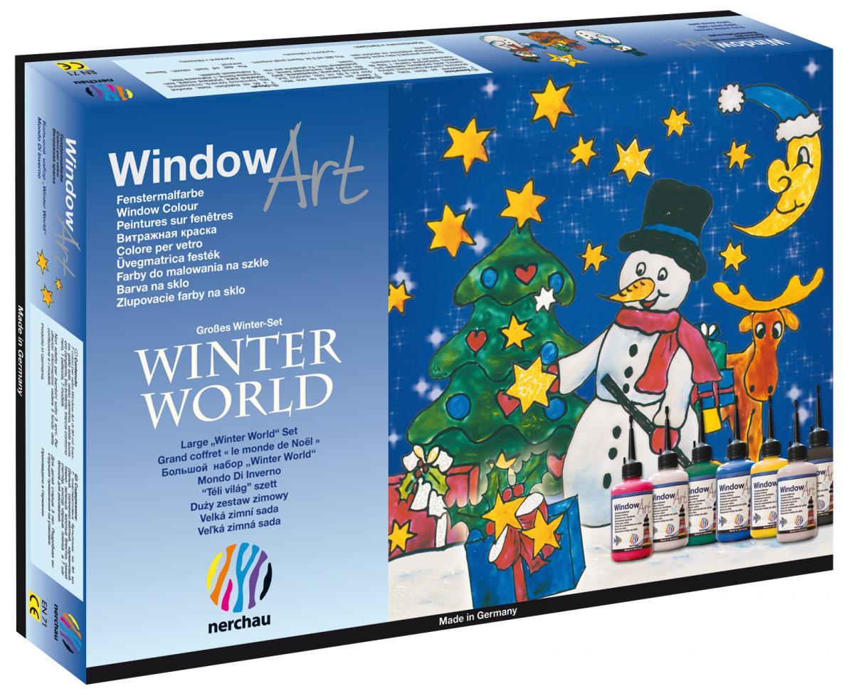 """nerchau fenstermalfarben window art """"großes winter set"""""""