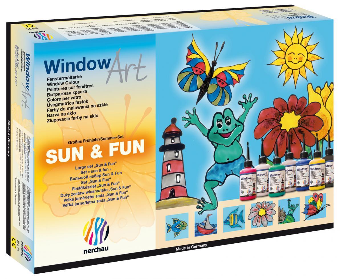 nerchau fenstermalfarben window art großes frühjahr