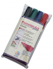 nerchau Porcelan Art pen, Porzellanmalstifte 4er-Set Classic