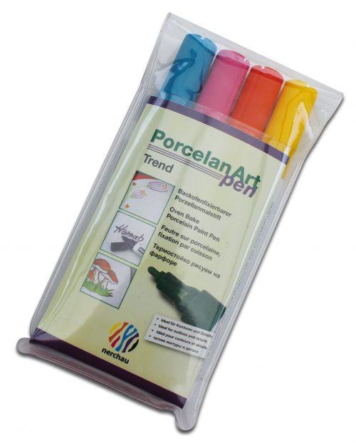 nerchau Porcelan Art pen, Porzellanmalstifte 4er-Set Trend