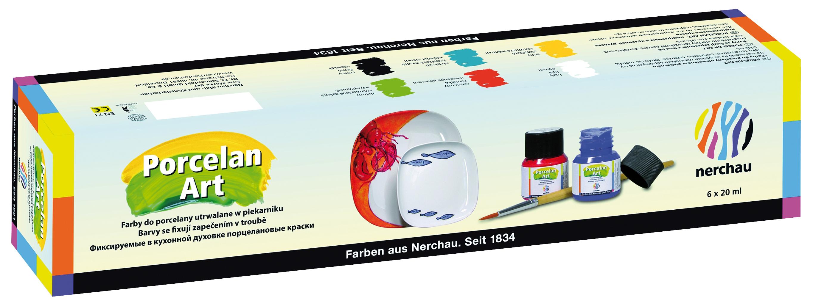 nerchau Porcelan Art, Sortiment 6er-Set