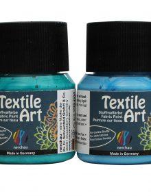 "Textile Art, 6er-Set ""AQUA"", für dunkle Stoffe"
