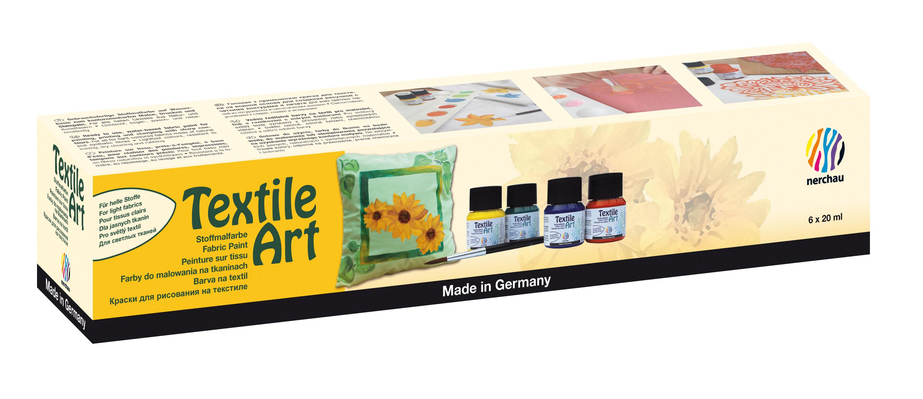 Textile Art, 6er-Set, für helle Stoffe