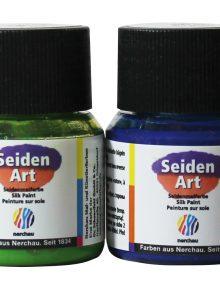 Seiden Art - Seidenmalfarben bügelfixierbar, 6er Set Sortiment