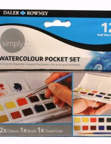 simply Aquarellkasten, Taschen Set