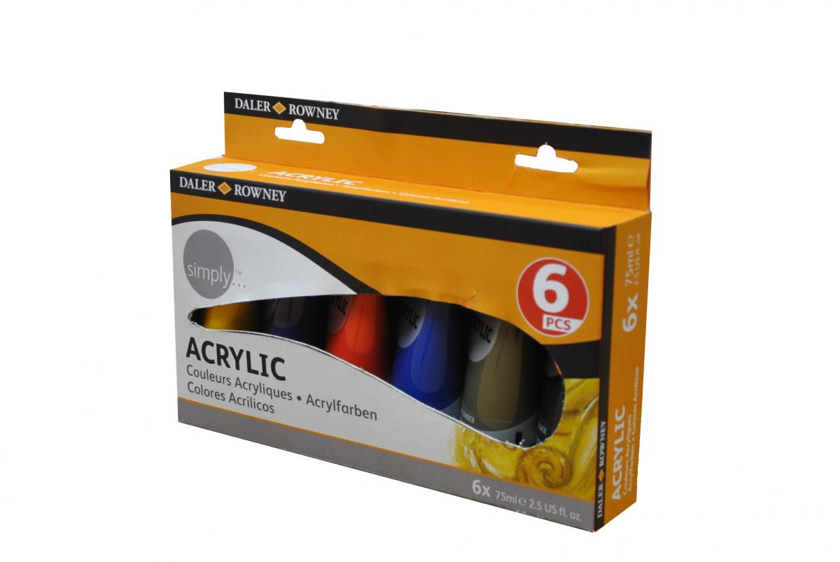 Simply Acryl Set 6x75 ml Tuben