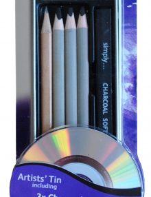 Simply Stifte- und Kohleset, 13-teilig incl. DVD