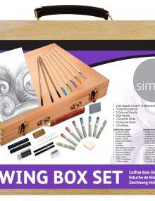 Simply Zeichenbox Set im Holzkoffer