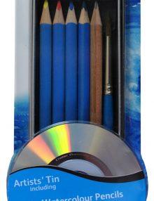Simply Aquarellset, 9-teilig incl. DVD