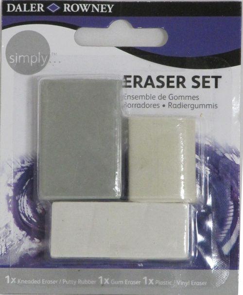 Simply Radierer Set, 3-teilig