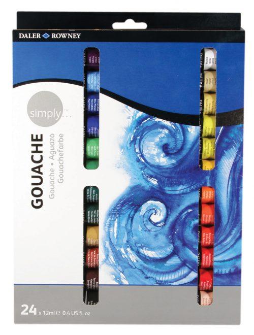 Simply Gouache 24er Set, je 12ml Tuben