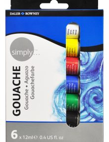 Simply Gouache 6er Set, je 12ml Tuben