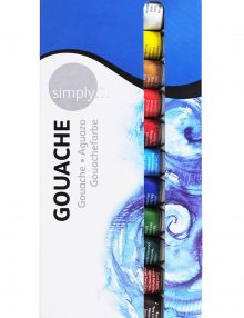 Simply Gouache 12er Set, je12ml Tuben
