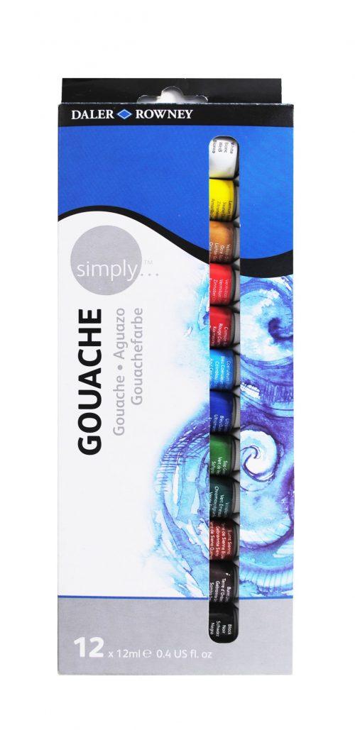 Simply Gouache 12er Set, je12ml Tuben