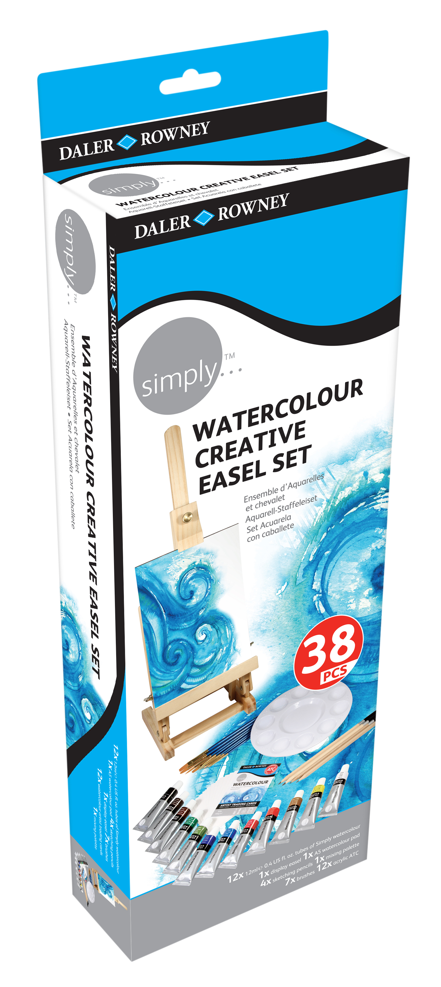 simply Kreativ Aquarell-Staffelei-Set