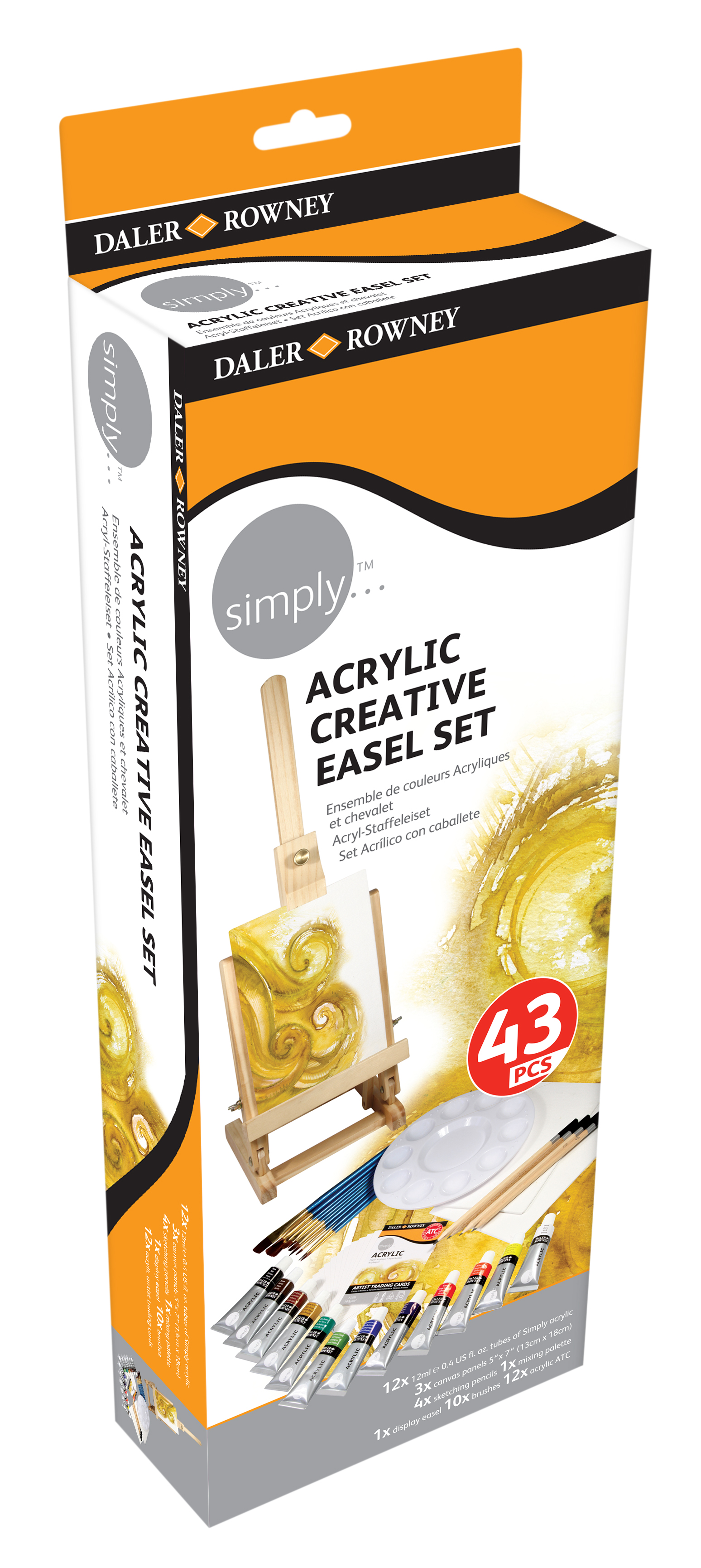simply Kreativ Acryl-Staffelei-Set